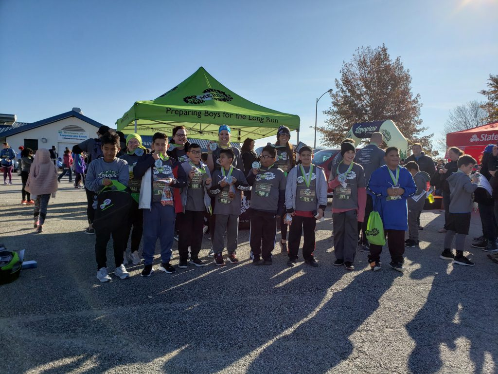 Participants after finishing the Let Me Run 5K
